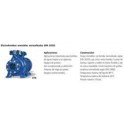 Electrobomba centrífuga monobloc normalizada tipo STH 32-160A de 4 CV y 3 KW . Bloch