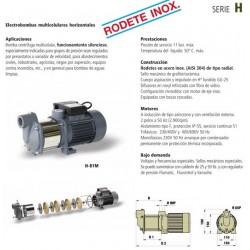 Electrobomba multicelular horizontal rodete en AISI 304 tipo H 300T de 3 CV . Bloch