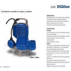 Electrobomba sumergible achique DGBLUE 100MG de 1 CV y 0.75 KW con boya de nivel . Bloch