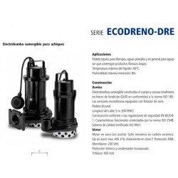 Electrobomba sumergible achique ECODRENO DRE 200 MG de 2 CV y 1.5 KW con boya . Bloch