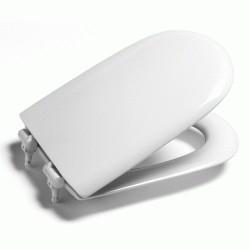 Asiento para inodoro modelo GIRALDA con la caída amortiguada blanco . Roca