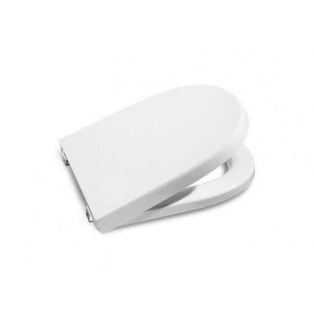 Asiento para inodoro modelo MERIDIAN-N con la caída amortiguada blanco . Roca