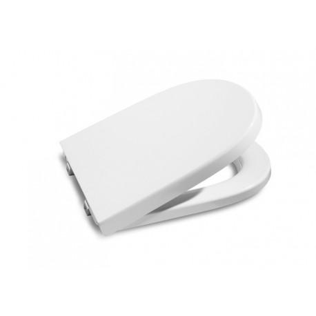 Asiento para inodoro modelo MERIDIAN-N compacto con la caída amortiguada blanco . Roca