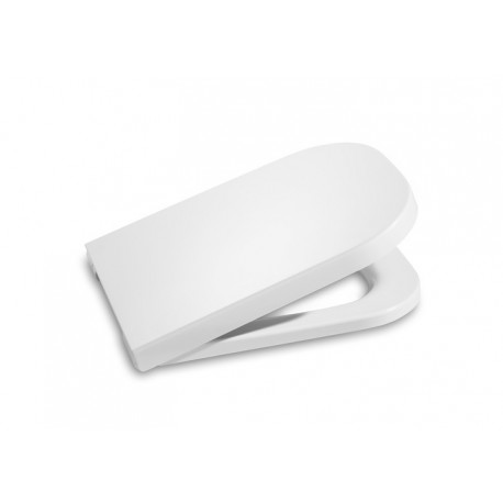 Asiento para inodoro modelo THE GAP compacto con caída amortiguada blanco . Roca