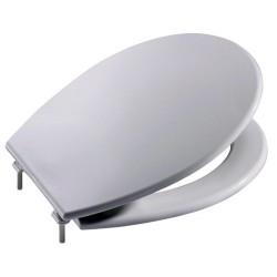 Asiento para inodoro con las bisagras de NYLON modelo VICTORIA blanco . Roca
