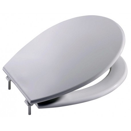 Asiento para inodoro con las bisagras de NYLON modelo VICTORIA plástico blanco . Roca
