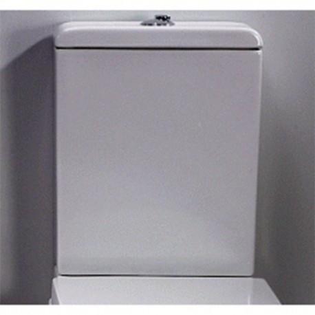 Cisterna con tapa y mecanismo de doble descarga instalado modelo VINTAGE ( sin Taza, solo tanque ) blanco. Unisan
