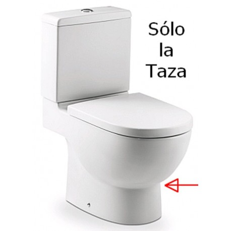 Taza MERIDIAN-N tanque bajo salida dual blanco . Roca