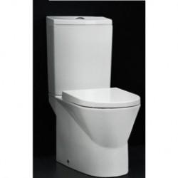 Inodoro CITY de 60 de cisterna baja salida vertical con juego de fijación blanco ( solo taza ) . Unisan