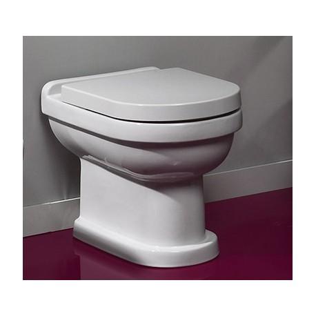 Inodoro cisterna baja salida dual con codo de fijación modelo VINTAGE ( solo la taza ) blanco. Unisan