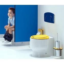 Inodoro WCKIDS para cisterna alta empotrada y salida dual. Unisan