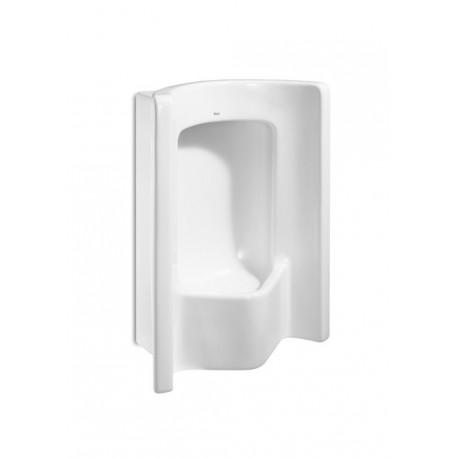 Urinario modelo SITE mural con alimentación superior blanco . Roca