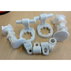 Kit bisagras de nylon para asiento de Inodoro modelo MAGNUM . Roca