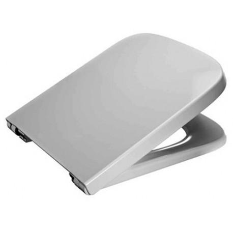 Asiento para inodoro modelo DAMA-N compacto blanco . Roca