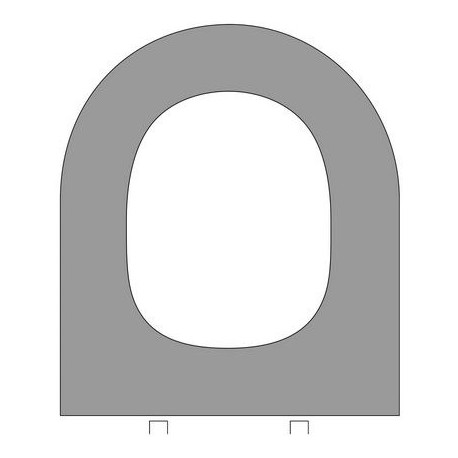Asiento MARINA HERRAJE horizontal WC MDF blanco . Eizaguirre