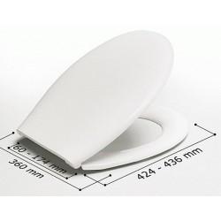 Asiento WC modelo ALEXIA blanco y bisagras (BR) . Estoli