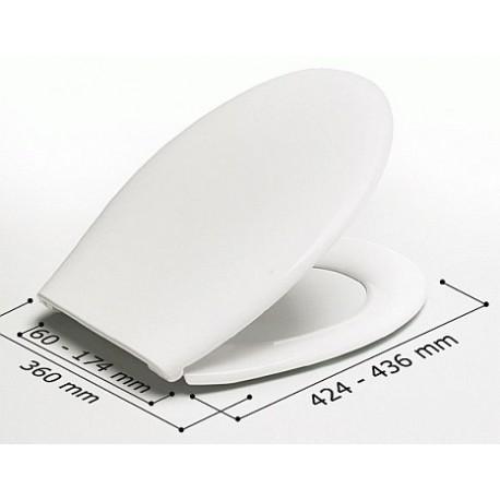 Asiento WC ALEXIA blanco y bisagras ABS A-80P . Estoli