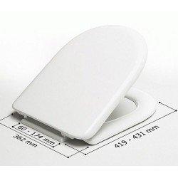 Asiento WC modelo MILOS blanco y bisagras A36P . Estoli