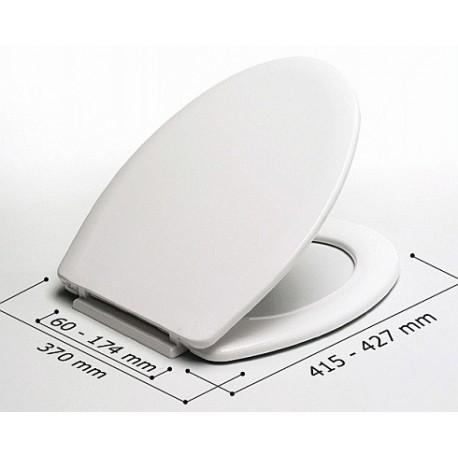 Asiento WC modelo FLORIT VISON y bisagras (BR) . Estoli
