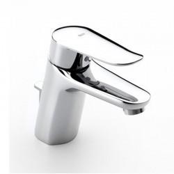 Monomando Mezclador para lavabo con aireador y desagüe automático LOGICA-N CROMADO ROCA