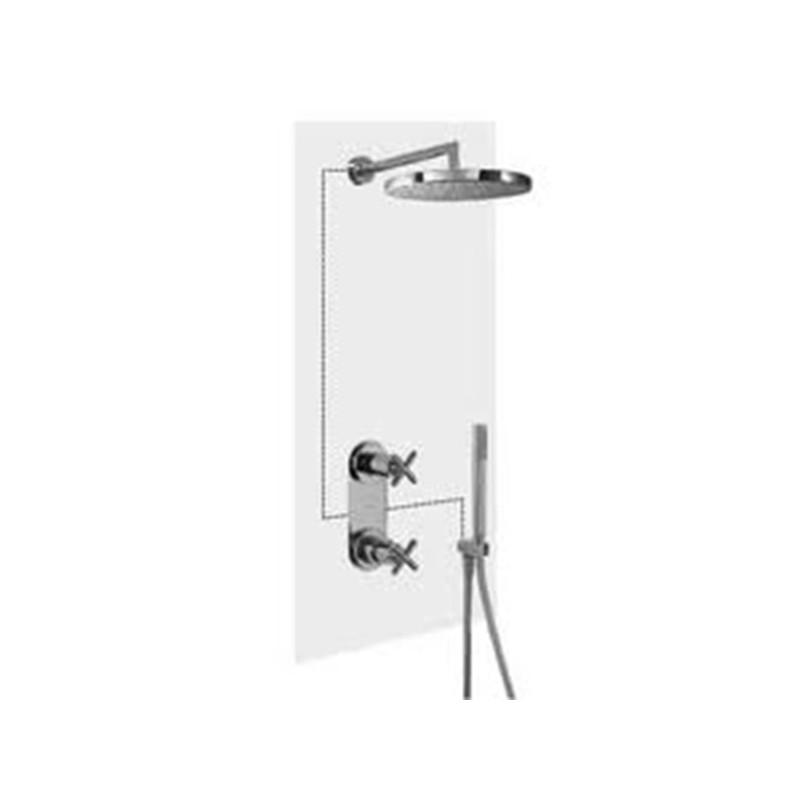Kit de ducha termost tico empotrado bimax tres for Monomando termostatico ducha