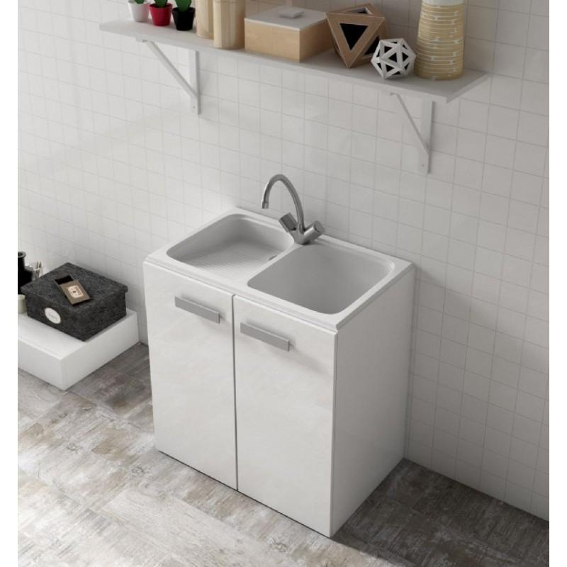 Lavadero de cuarzo de un seno y escurridera izquierda poalgi for Mobiliario lavadero