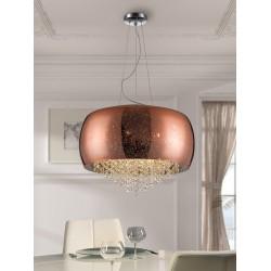 LAMPARA CAELUM COBRE 6G9 Ø50