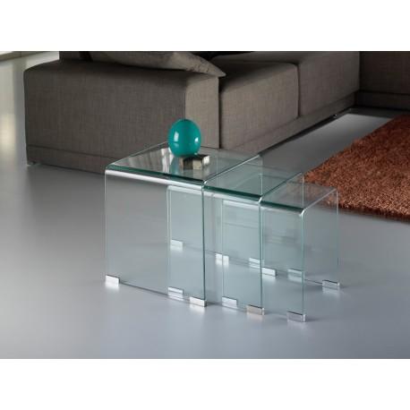 MESAS NIDO GLASS TRANSPTE.