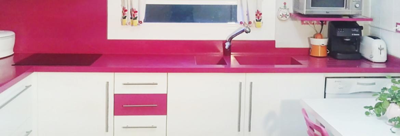 Y por qu no un fregadero rosa complementos para for Complementos para cocinas