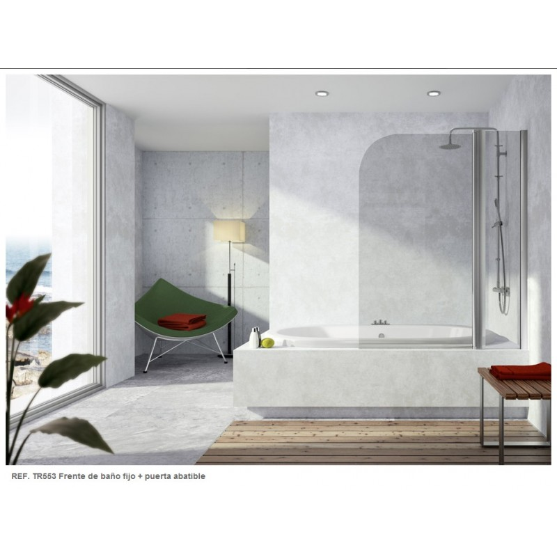 mampara-frontal-de-banera-serie-300-tr553-1-. En los baños pequeños modernos  ... e1f427a1fa58